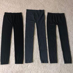 Apt 9 sz Small leggings-3 pair gray/charcoal/black